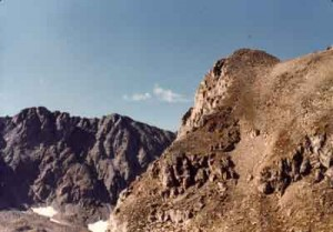 Image of a scree slope in Rocky Mountain National Park